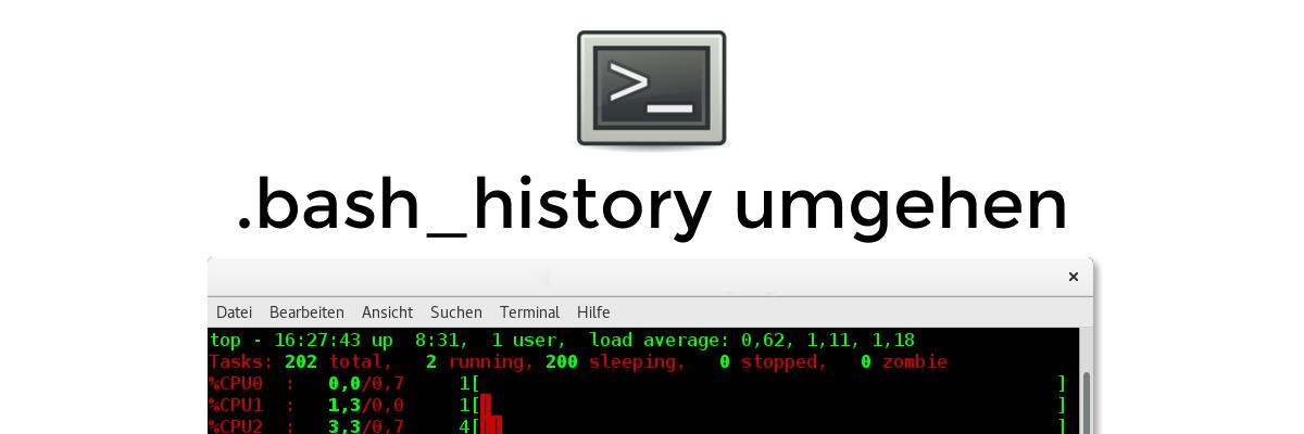 Tipp: bash_history umgehen