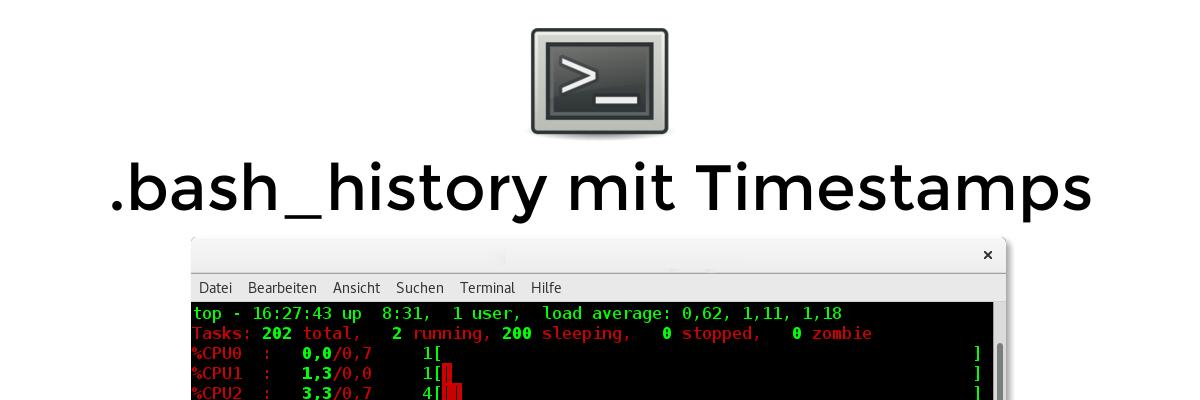 Tipp: bash_history mit Zeitstempel versehen